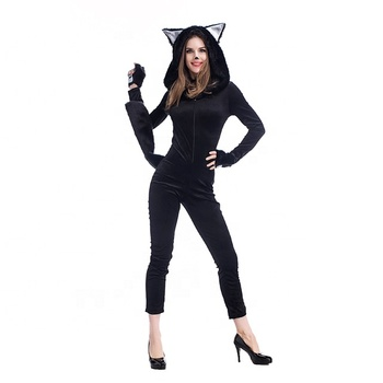 Halloween Carnival Party New Cosplay Black Cat Girl Costume sexy cat cosplay costume
