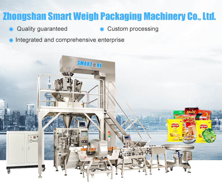 Reasonable price vertical packing machine  for lettuce with multihead weigher