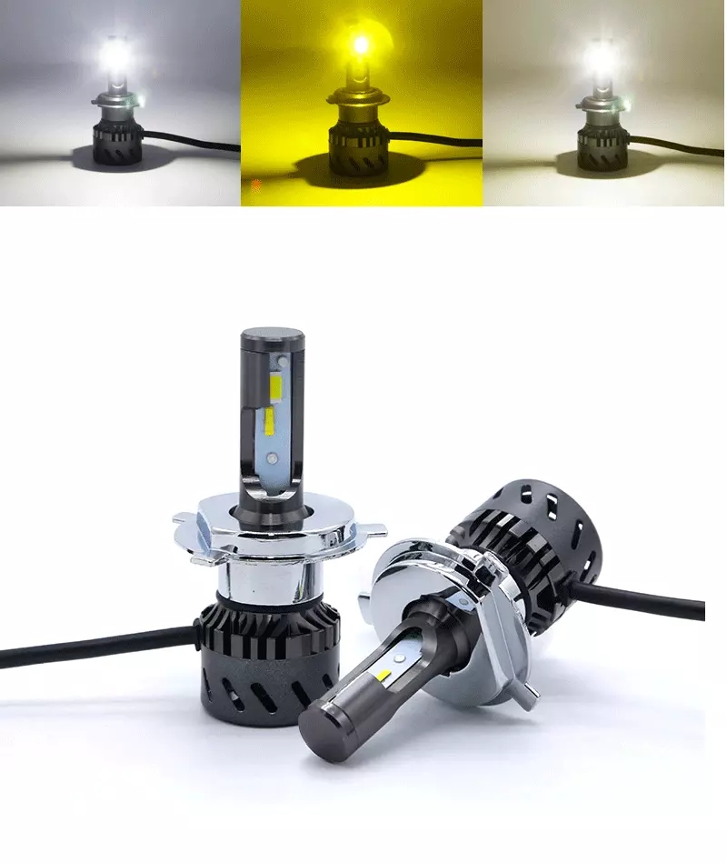 Bosne Fabriek prijs mini size 30W 3000LM 6000K 3000K 4300K tri color led koplamp lamp met canbus auto led licht h7
