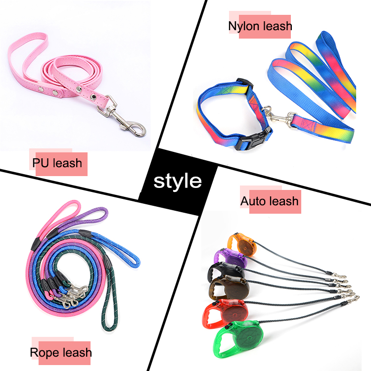 Professional Hot Selling Custom Metal Chain PU Handle Pet Prevent Dogs Bite Clips Leash