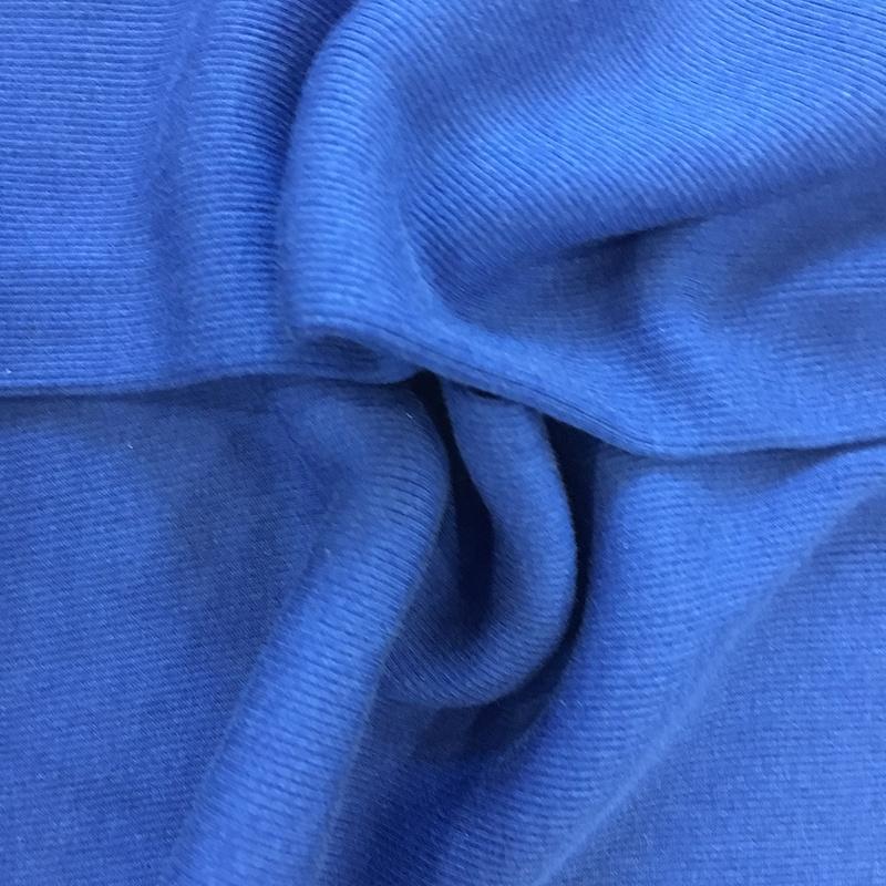 純粋な色 4*3 綿ブレンドシルクエラスタン糸リブニット生地下着パジャマ