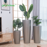 Plastic outdoor garden cylinder tall large size livingroom indoor modern flower pots & planters containers plant pots wholesale