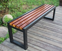 Factory Outlet cheap price high quality Outdoor Park Garden Metal Wooden Bench