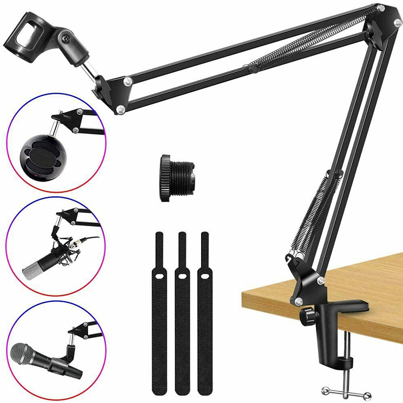 SUT-BM35A профессиональная подставка для микрофона регулируемая подвеска ножничный микрофон Подставка с поп фильтром