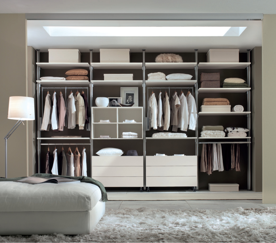 Aluminum Profile Walk In Wardrobes With