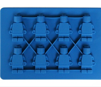 Robto Silicone Ice Mold Chocolate Maker Jelly Pan Candy Ice Cube Logo Lovers Molds Robot Minifigure Tray Ice Brick Tray