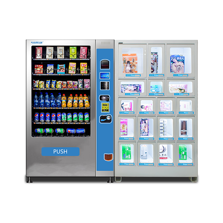Commercial sex product vending machine and condom vending machine with touch screen