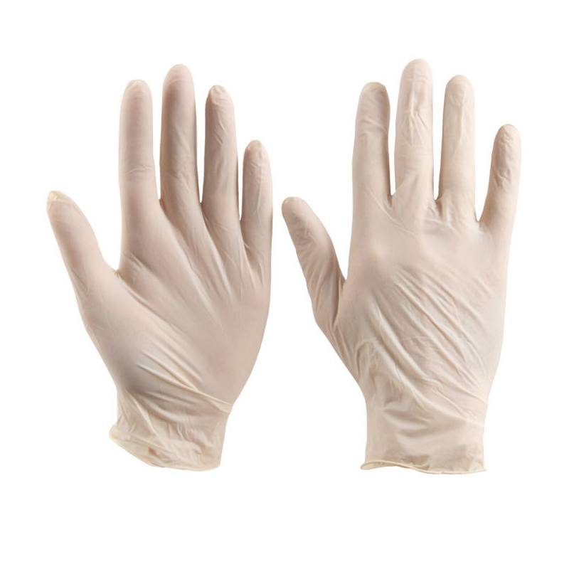 Disposable Beige Dust-Free Clean Latex Protective Gloves