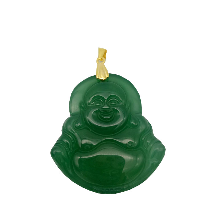Jade Buddha <strong>Pendant</strong> Agate Stone Buddha Jewelry Necklace Buddha Charm Carved Jade <strong>Pendant</strong>
