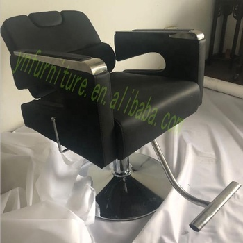 2019 New European Styling Heavy Duty All Black Molded Recline Barber Chair Salon Chair Styling chair