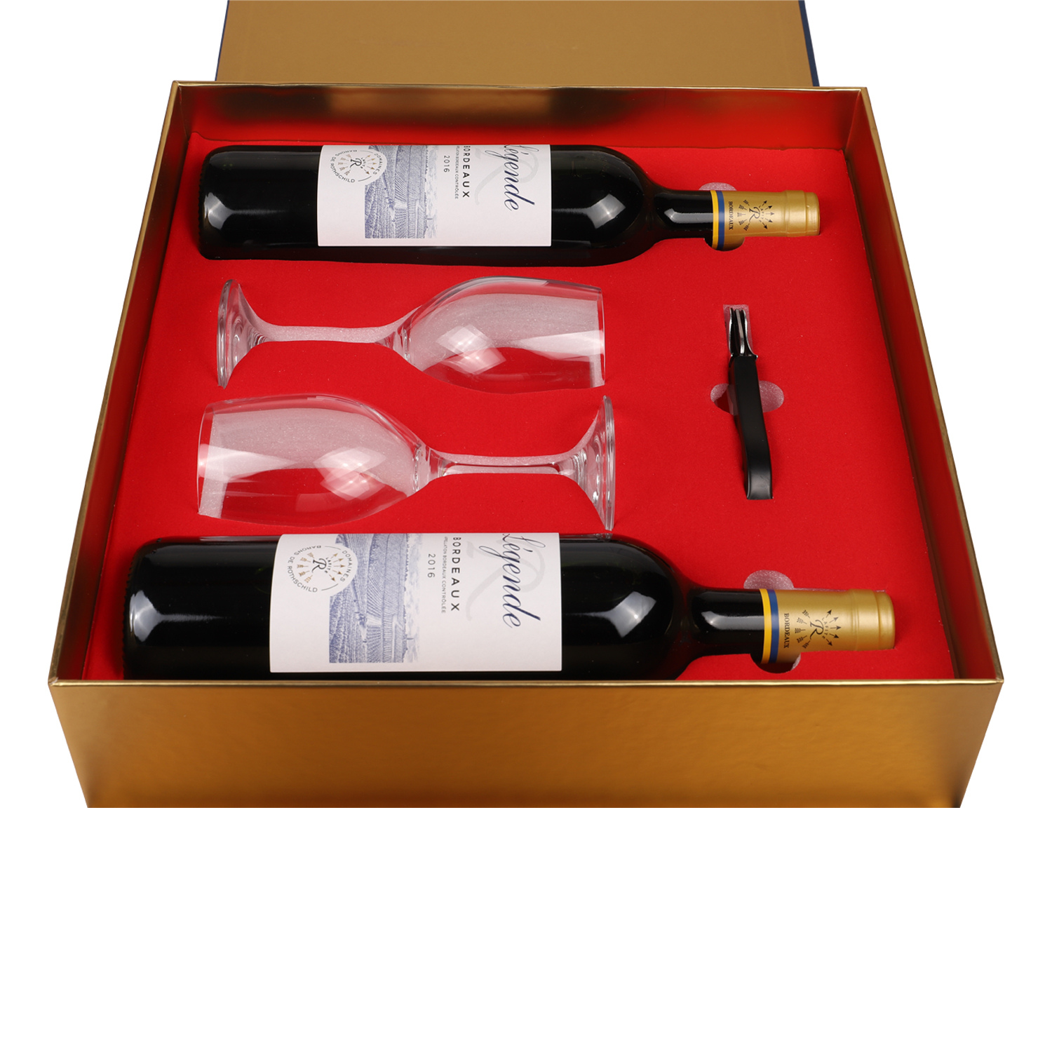 2020 wholesale new design double bottles leather wine gift box with glass wine packaging box