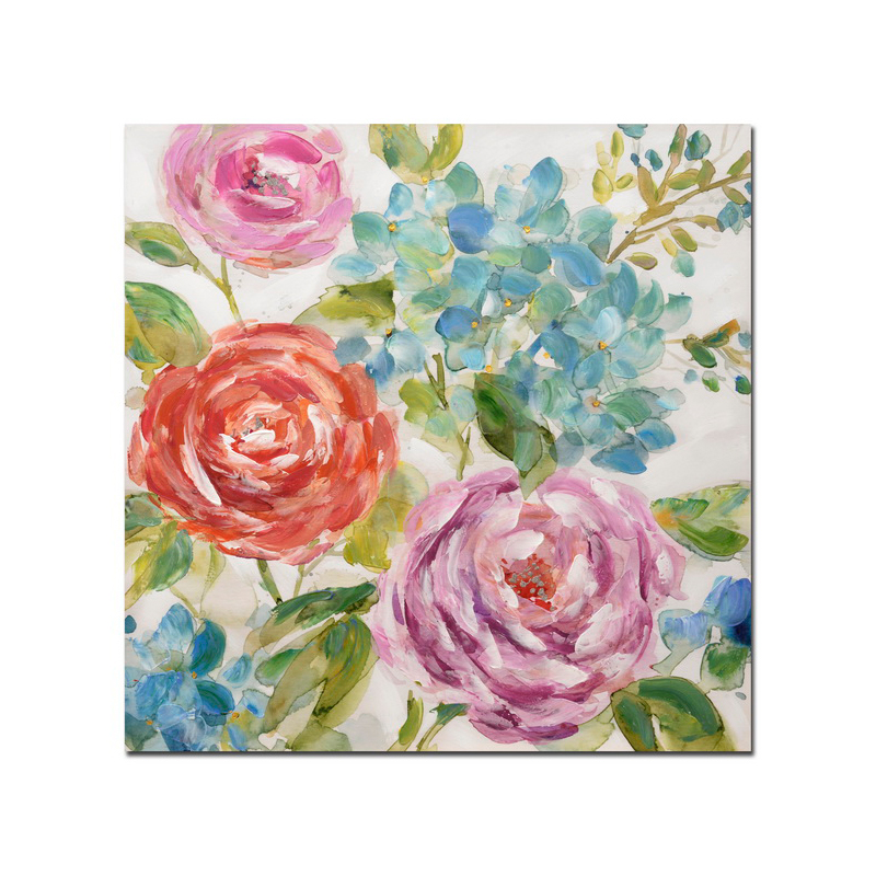 spring feeling Colorful Floral Artwork Bloom Picture handmade painted Wall Art for Bedroom Living room