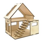 Hot Sale Wooden Craft Product House Kit, Different Designs DIY House Kit