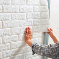 Best Price 3d Self-adhesive Wallpaper Solid Color Brick Pattern Home Decoration Wall Stickers