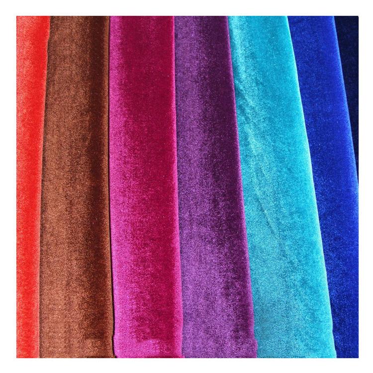 spandex & polyester velvet/Elastic velvet/spandex velvet fabric for dress