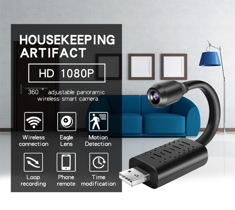 Wireless CCTV Camera Smart Surveillance  Mini USB Camera WIFI USB Flexible Camera Surveillance
