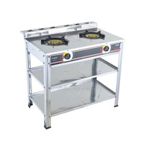 <span class=keywords><strong>Stainless</strong></span> Steel 2 Burner Meja Kompor <span class=keywords><strong>Gas</strong></span> Stand Kompor Tanam