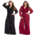 Wholesale Black Embellished Cuffs Long Mesh Sleeves Woman Jumpsuit 2020