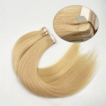 Hinarin Large Stock Top Quality Double Drawn Virgin Remy Blonde Human Hair Tape Hair Extensions