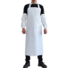 White Bib Paint Welding Protection Waterproof Working Long Vast Safety Apron For Chemical