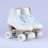 America skating rink 4 PU led wheels small big size safe action durable roller quad skates