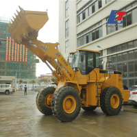 5 ton front wheel loader with 3m3 or 3.5cbm bucket capacity wheelloader