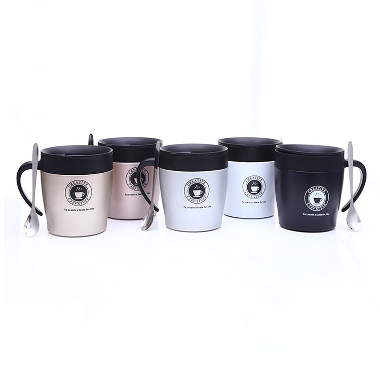 New design stainless steel insulated coffee tumbler with handle