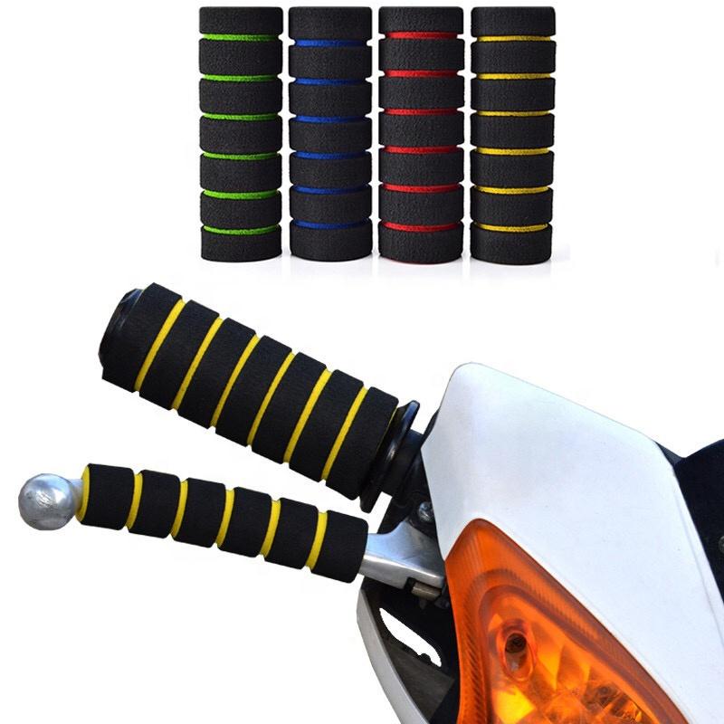 Custom Vintage High Quality Soft Rubber Handle Grips Retro Motorcycle 22mm 7/8'' Handlebar Grips Universal