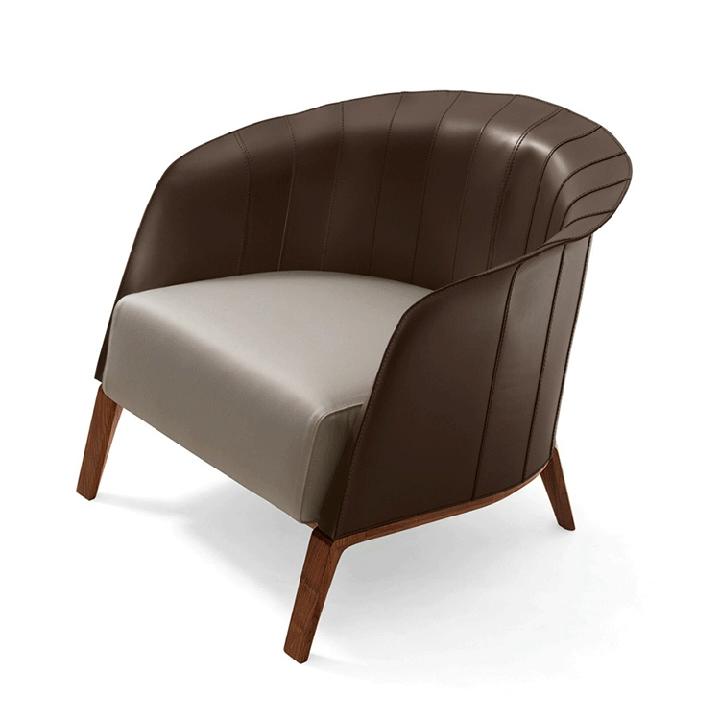 Kahverengi Beyaz Küçük koltuk tabanı ile ceviz ahşap çay odası ayarı odası oturma odası alçak koltuklar