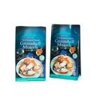 Fresh deep frozen food flat bottom seafood cold freezing packaging bag