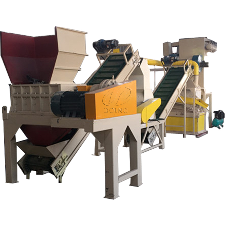 Radiator recycling machine recycles copper and aluminum by crushing and sorting