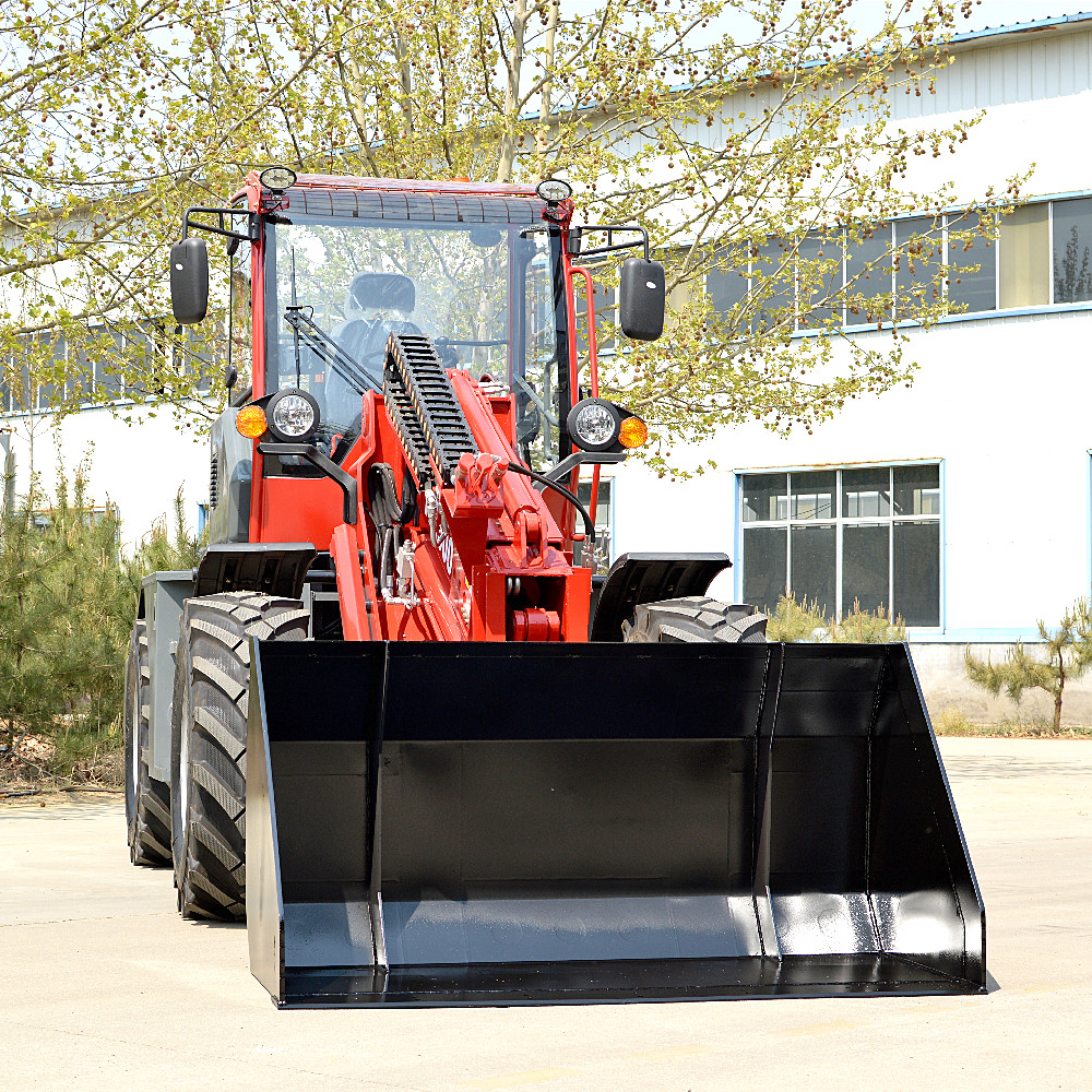 CE ISO approval wheel loader taian Brand TL2500 MultiFunctional articulated telescopic boom mini wheel loader