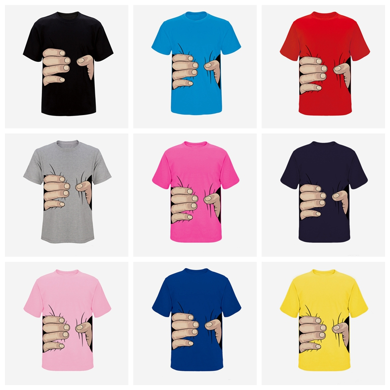 Popular fashion design tshirt online print carton style unisex pink color tee shirt