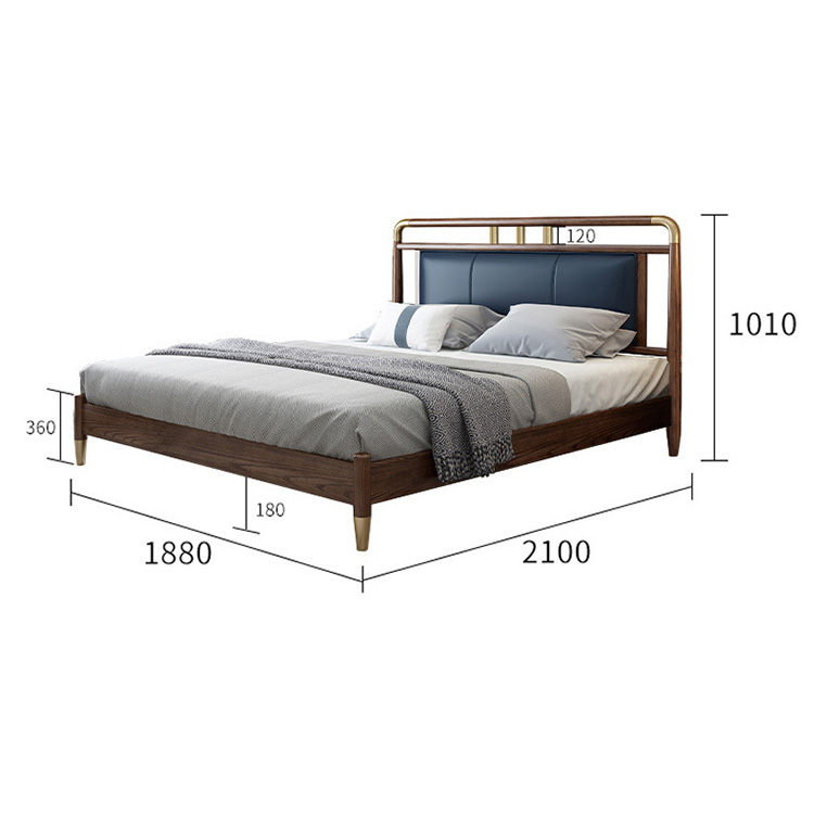 product-BoomDear Wood-Drawer Furniture King Size Room Solid Double Designs Price Simple Wood Bed-img