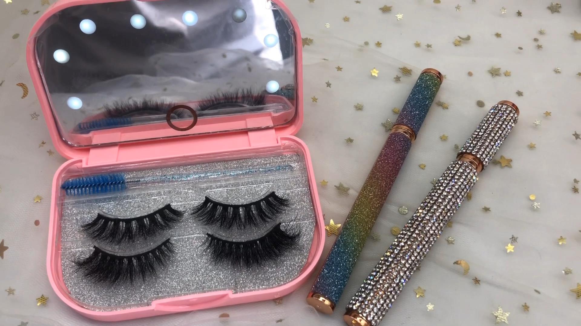 Fashion Rhinestone eyelash book 10 Pair 16 pair100% real mink eyelash 25MM LASHES packing box