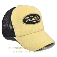woven label embroidery patch custom toweling trucker mesh cap/sports cap