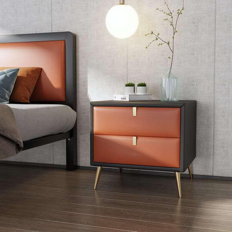 Yeni tasarım teknoloji kumaş ışık lüks modern gri Nordic kabine boya yatak odası katı ahşap depolama küçük depolama dolabı