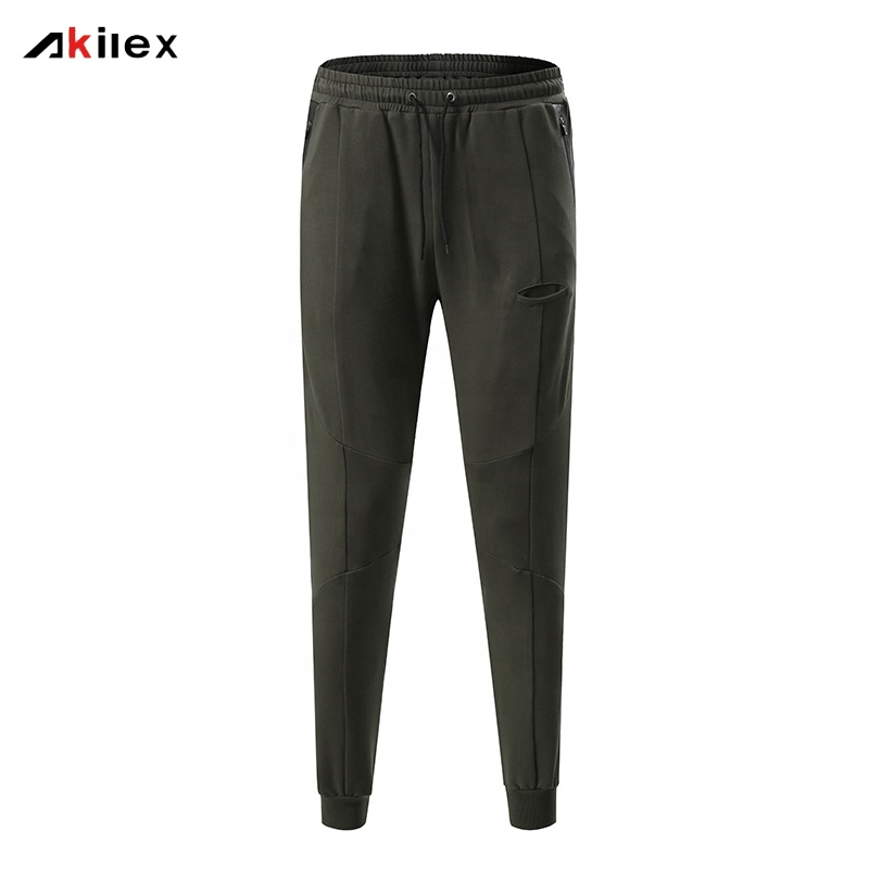 Tasca Con Zip laterale Per Il Fitness Pantaloni Della Tuta Mens Slim Fit Tapered Allenamento Jogging