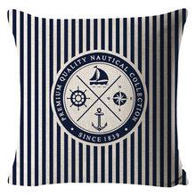 Производители продают темно-синий компас держать подушки Чехлы морской корабль дизайн; чехол для подушки Бытовой автомобиль талии(Китай)
