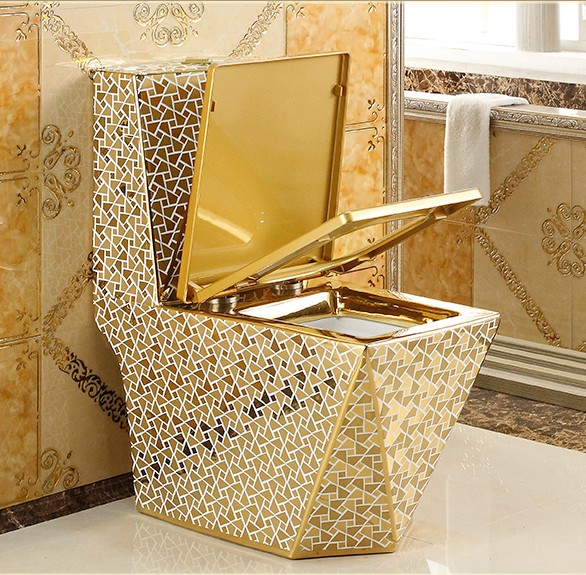 Toilet prices western bathroom luxury gold toilet