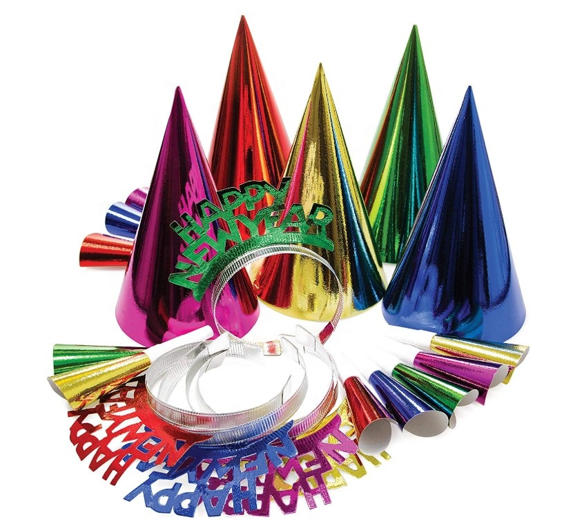 Birthday party color children's headband and hat paper suit Party photo props Customizable