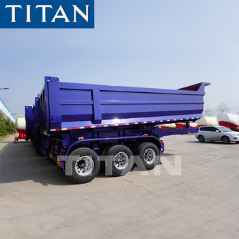 3 axles dumper aggregate side dump tipper trailers 45cbm tipper gooseneck grain dumping semi trailers for sale