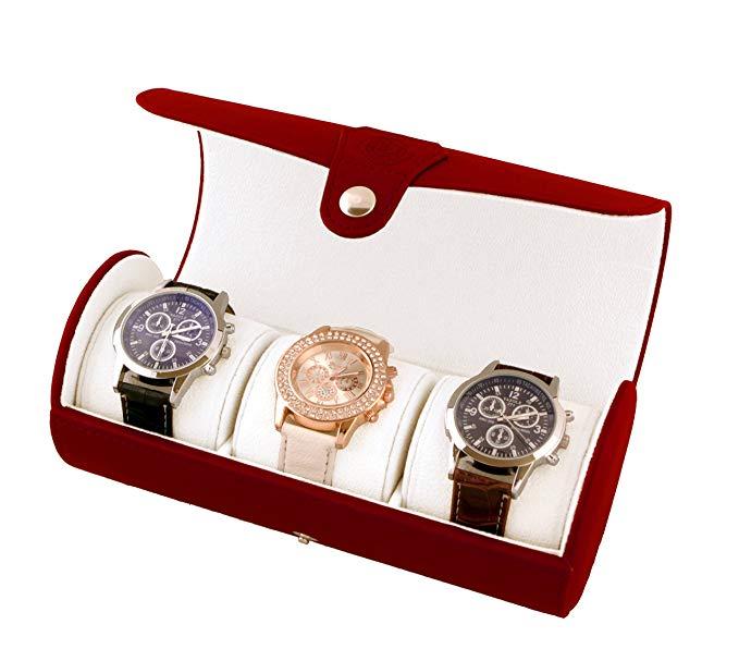 Custom Watch Box 3 Slots Watch Roll Leather Travel Empty Watch Box