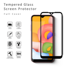 Retail package 9H 2.5D full glues tempered glass screen protector for Samsung Galaxy A01
