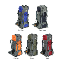 60L Outdoor Bahu Olahraga <span class=keywords><strong>Tas</strong></span> Tahan Air <span class=keywords><strong>Kain</strong></span> Oxford Hiking <span class=keywords><strong>Ransel</strong></span>