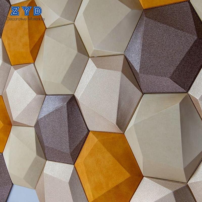 자연 방수 벽 벽지 홈 장식 TV 배경 PVC 3D 벽지