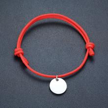 Vnox браслет ручной работы для влюбленных женщин и мужчин, браслет из нержавеющей стали с сердечком и надписью(Китай)