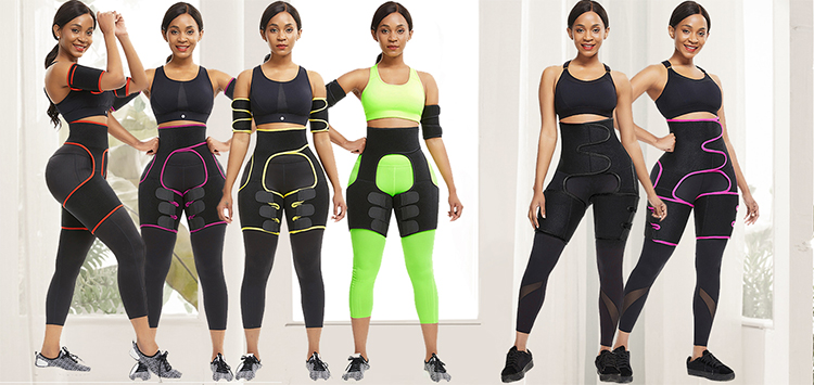Explosion Two Compression Arm Sleeves Fat Burning Slimming Shapewear Arms Neoprene Sweat Belt