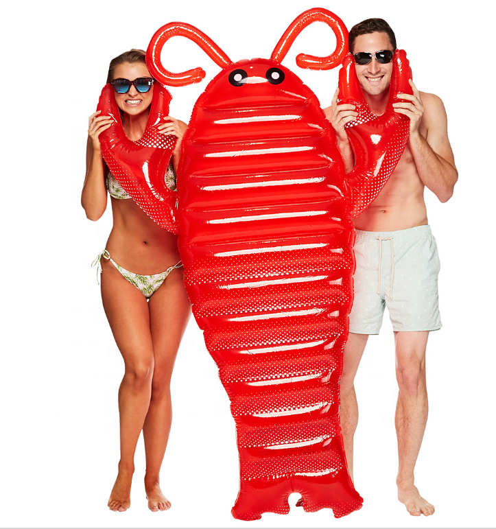 inflatable lobster swimming  inflatable floating bed red lobster animal shape for adult kids