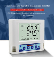RS485 modbus indoor LCD display smart digital temperature and humidity sensor with battery inside
